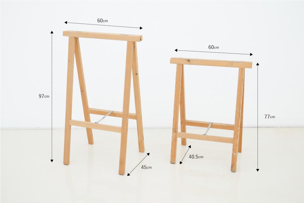 展示台テーブル型脚比較画像